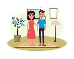 portrait de personnage de dessin animé couple avatar