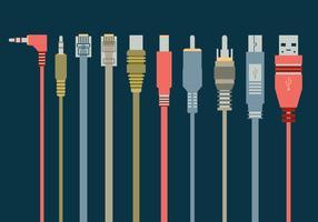 Icône du port USB vecteur