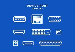 Icône de port de périphérique Set Free Vector