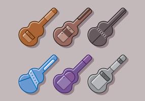 Voeux de guitare vecteur