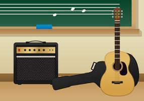 Salle de classe de musique vecteur gratuit