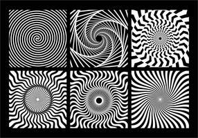Élément géométrique monochrome en spirale vecteur