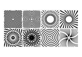 Vecteur de lignes en spirale gratuit