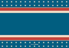 Contexte patriotique de style rétro américain vecteur