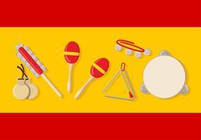 Instrument de musique d'Espagne vecteur
