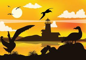 vecteur libre de silhouette d'albatros