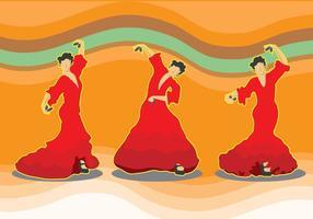 Vecteurs de danseurs de castanets vecteur