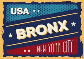 Illustration Vintage Bronx vecteur