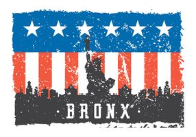 Illustration grunge Bronx vecteur