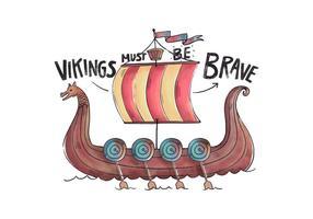 Viking Dragon Ship Vector