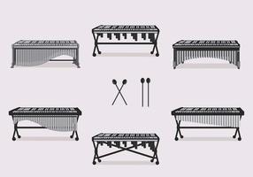 Vecteur traditionnel Marimba