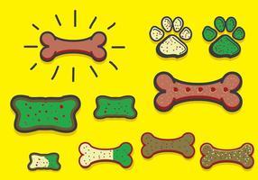 Biscuit pour chien avec vecteur canin