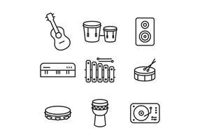 Vecteurs d'icônes d'instrument vecteur