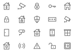 Vecteurs de surveillance de quartier gratuits vecteur