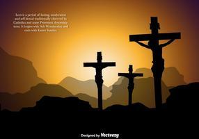 Contexte Vector Carême pour Pâques