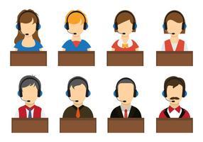 Vecteurs opérateurs du centre d'appels