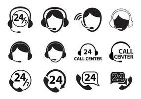 Ensemble d'icônes du centre d'appels