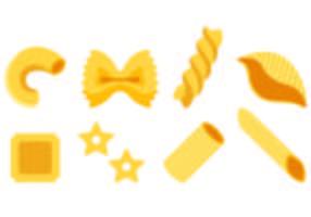 Ensemble d'icônes de macaroni vecteur