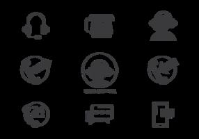 Vector d'icônes du centre d'appels