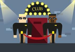 Vector d'illustration de club de Bouncer