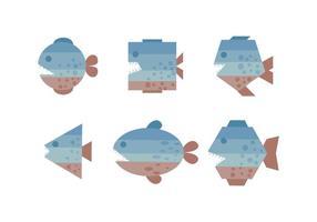 Des vecteurs de piranha exceptionnels vecteur