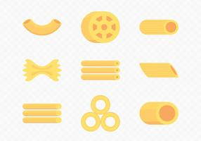 Icônes de macaroni sec vecteur