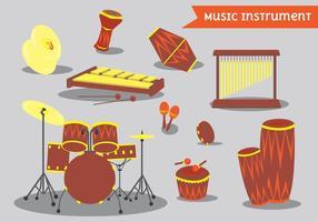 Pack d'instruments de percussion et de bongo vecteur