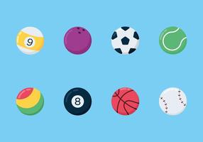 Icônes de vecteur de balles de sport