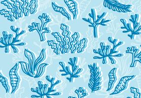 Illustration de mauvaises herbes de mer vecteur