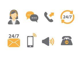 Icônes vectorielles gratuites du centre d'appels vecteur