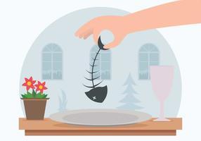 Illustration du dîner au poisson