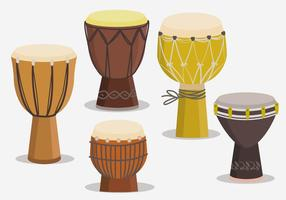 Etnic Djembe Collections Vector Flat Illustration