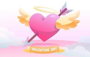 coeur Saint-Valentin Cupidon vecteur