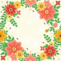 fond de fleurs colorées et belles vecteur