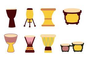 vecteur traditionnel de tambours africains traditionnels
