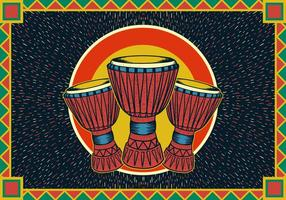 affiche de djembe vecteur