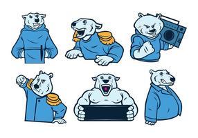 Vecteur de mascotte d'ours blancs gratuit