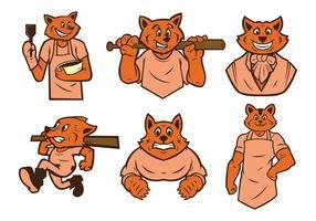 Vecteur gratuit de mascotte de raccoon