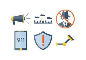 Vecteur de surveillance de voisinage exceptionnel gratuit