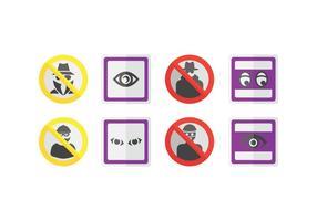 Signes d'icônes de surveillance de quartier vecteur