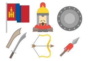 Icônes vectorielles mongoles vecteur