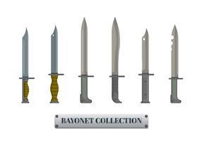 Collection de vecteurs de baïonnette vecteur