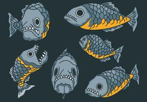 Icônes vectorielles Piranha vecteur