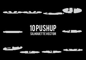 vecteur silhouettes pushup