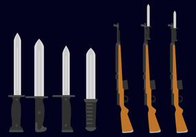 Bayonet With Guns vecteur
