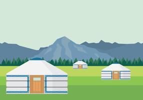 Illustration de la tente mongole vecteur