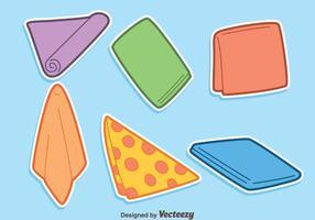 Vecteur de serviette coloré