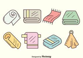 Vecteur de serviette dessiné à la main