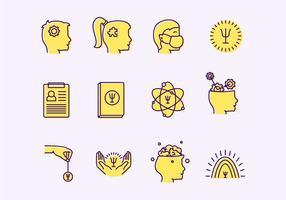 Icônes de vecteur de psychologue