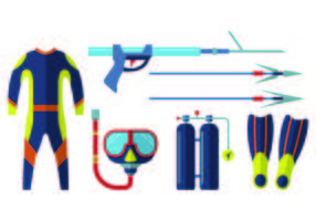 Icon Of Spearfishing vecteur